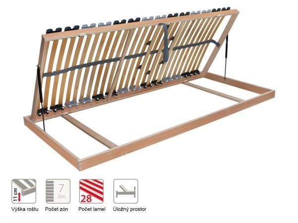 Portoflex Kombi P - statikus felnyitható ágyrács