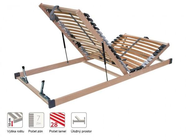 Portoflex HN P - ágyrács felnyitható lábrésszel